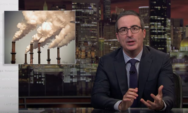 John Oliver on climate change: 'The current situation of carbon is critical'