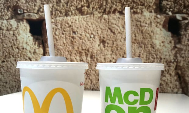 McDonald's effort to reduce plastic waste backfires as consumers are requesting coffee lids on their drinks to avoid using 'flimsy' paper straws