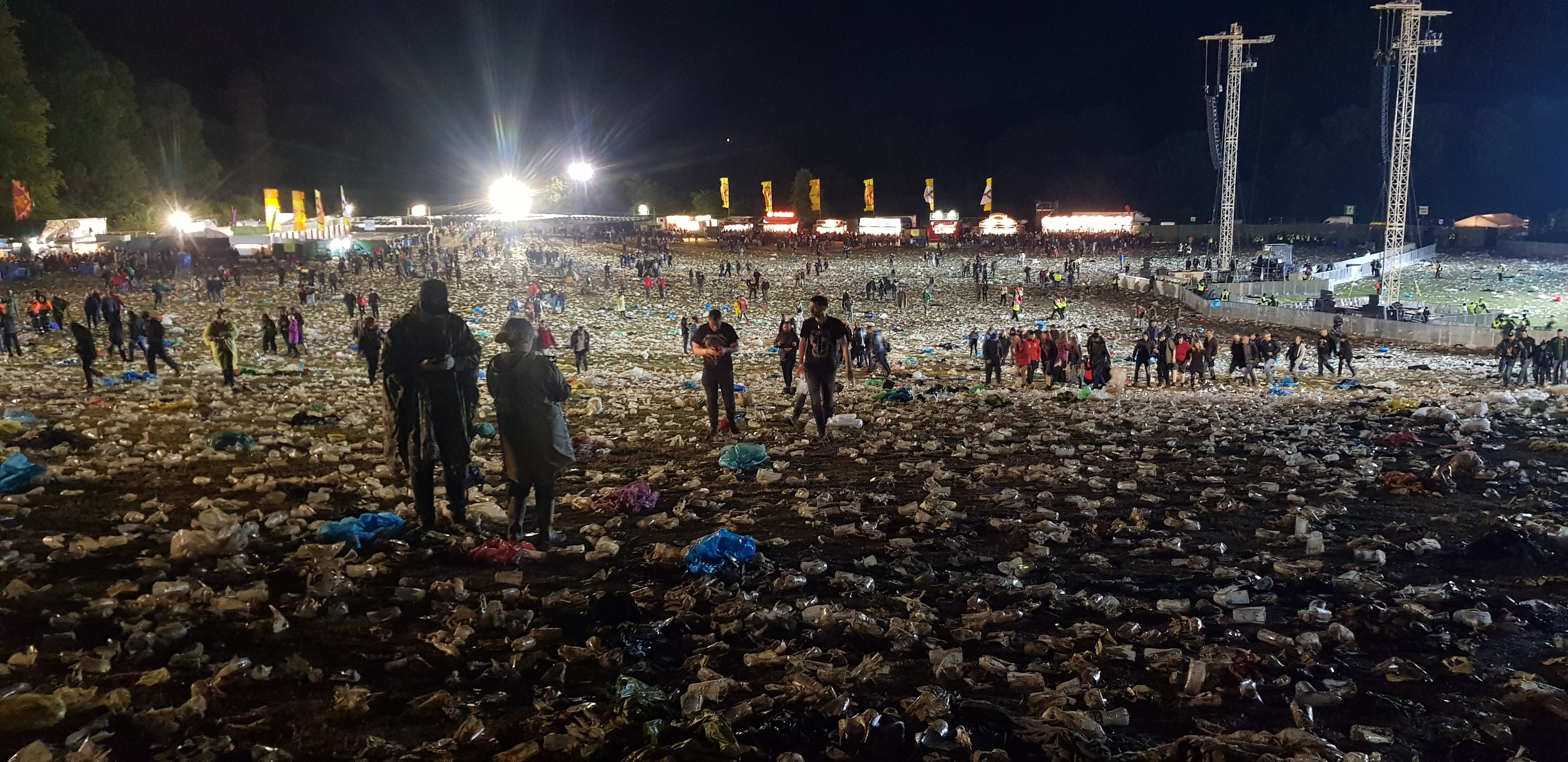 THE UNFORGIVEN Fury over sea of plastic left behind by 75,000 Metallica fans in Slane Castle on World Oceans Day