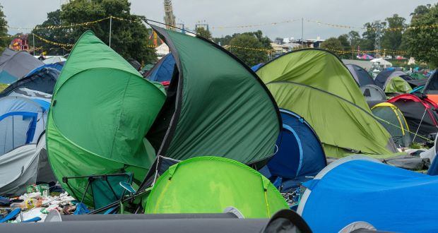 Electric Picnic aftermath: Campers leave fewer tents, but plenty of chairs and gazebos