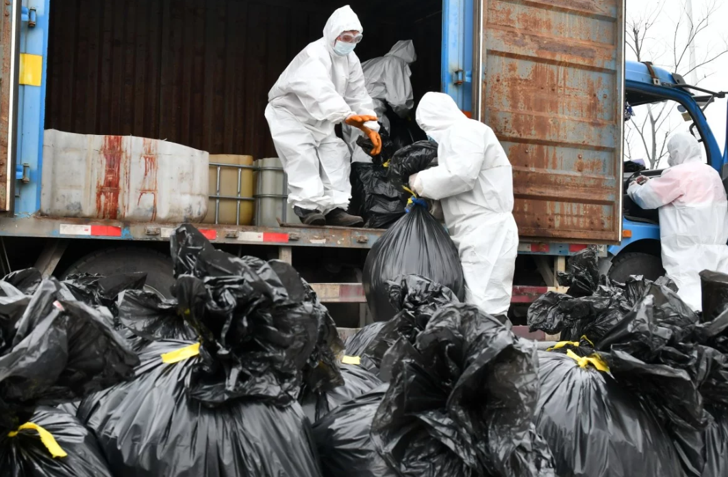 Coronavirus: China struggling to deal with mountain of medical waste created by epidemic
