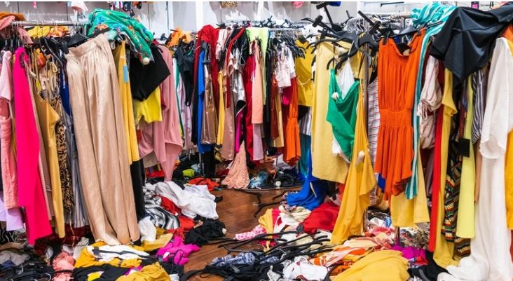 Clothes mountains build up as recycling breaks down