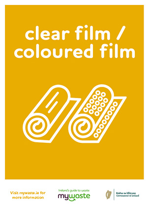 clear or coloured film labels